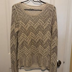 Lucky Brand Lined Long Sleeve Sweater - Size: M